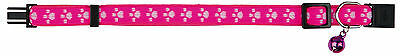1 x New Paw Fully Adjustable Cat Elastic Collars Bell 4202