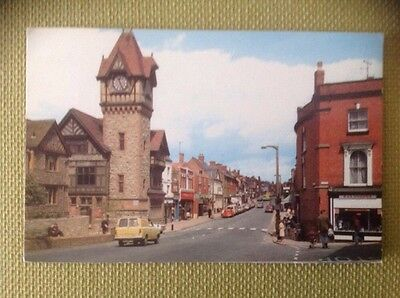 OLD COLOUR POSTCARD OF THE HIGH STREET, LEDBURY, HEREFORDSHIRE, used