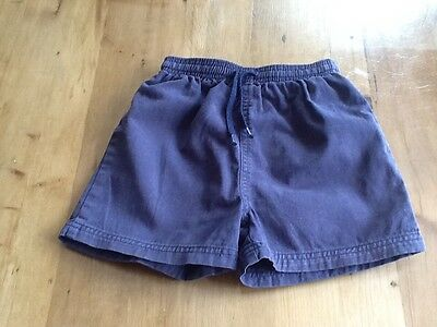 Blue PE school Games shorts, thick cotton, elastic waist 5 yrs