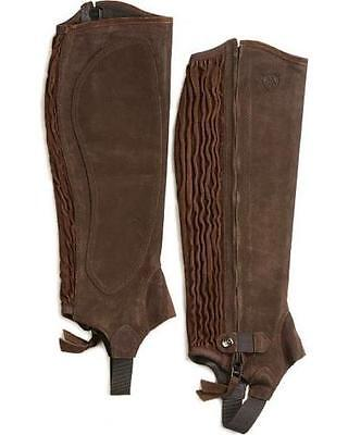 ARIAT ALL AROUND CHAP lll MEDIUM TALL 15.5/19.5 CHOCOLATE SUEDE HALF CHAPS