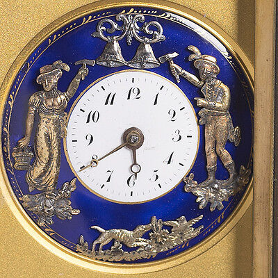 Antique Carriage Clok AUTOMATON JAQUEMARTS REPEATING VERGE FUSEE Pocket Watch