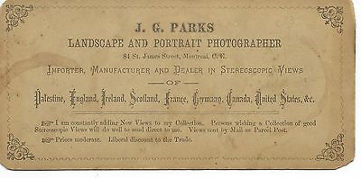Neat J G Parks Back of ST Croix Wisconsin Stereoview