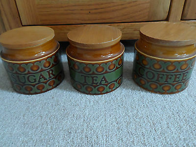 Vintage Hornsea Tea, Coffee and Sugar Cannisters