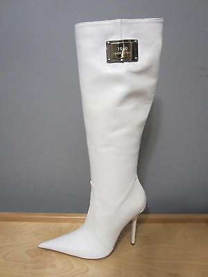 1969 Knee High Leather Stiletto High Heel Boots