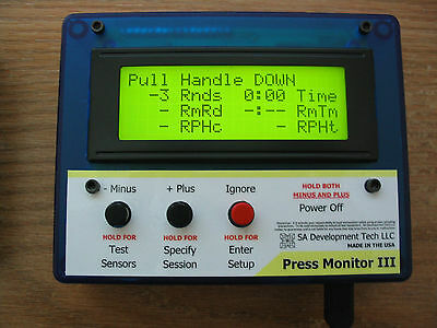 Press Monitor III (Blue Case) for Dillon 550 650 Hornady Counter Statistics
