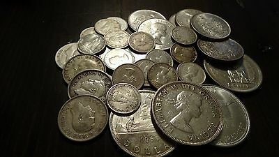 Canada Junk Silver $10 face 80% silver with Silver Dollars