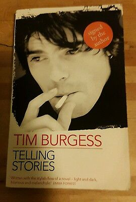 Tim Burgess Signed Book: Telling Stories (ISBN: 978-0-670--7) First Edition