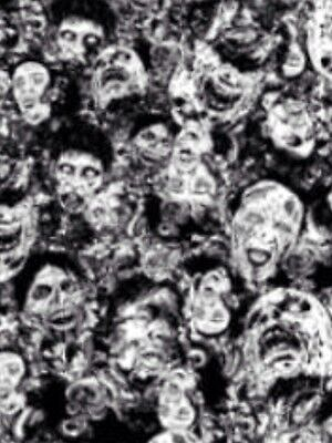 Hydrographic Water Transfer Printing Film  Zombies 2m X 50cm Hydrographics