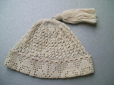 Antique crochet baby or doll hat