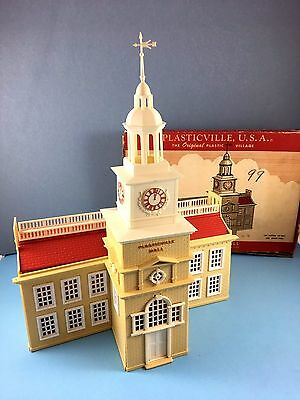 O ga.Plasticville  Independence Hall, Original box, Complete, Perfect!