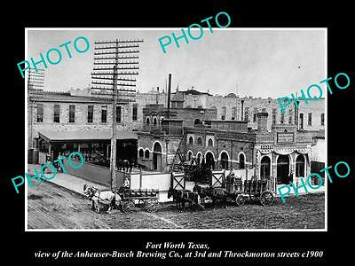 OLD LARGE HISTORIC PHOTO OF FORT WORTH TEXAS, THE ANHEUSER BUSCH BREWERY c1900
