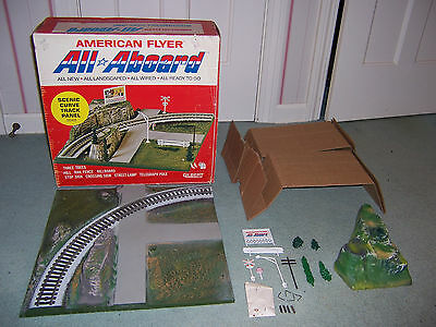 American Flyer #26101 All Aboard Scenic Curve Track Panel with original box