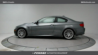 2013 BMW M3 Base Coupe 2-Door Low Miles 2 dr Coupe Gasoline 4.0L 8 Cyl Space Gray Metallic