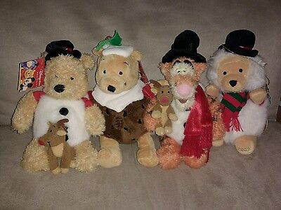 Tigger and Winnie the Pooh Christmas Soft Toys