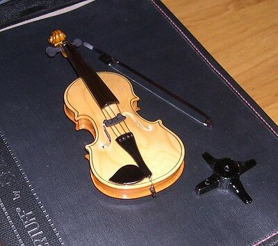 NEW High Quality Miniature Cello with Stand - Glossy Light Brown