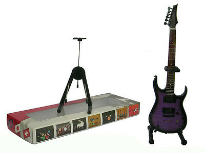 NEW High Quality Miniature Guitar and stand - Def Leppard PRS Purple Burst