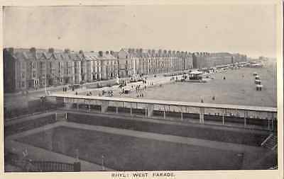 Rhyl : West Parade  posted 1915