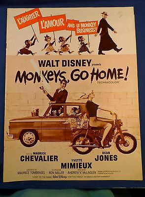 Vintage 1966 Disney Monkeys Go Home with Ad Pad Press Kit Campaign Book RARE!