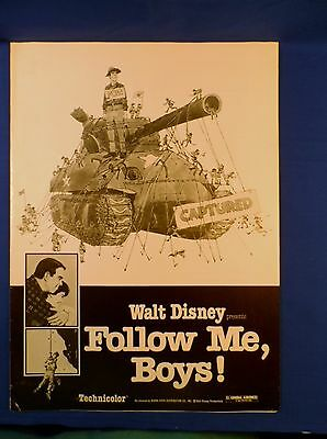Vintage Disney Follow Me Boys with Ad Pad Press Kit Campaign Book RARE
