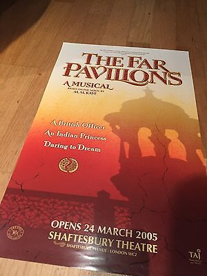 THE FAR PAVILIONS Pre Opening Shaftesbury Theatre poster