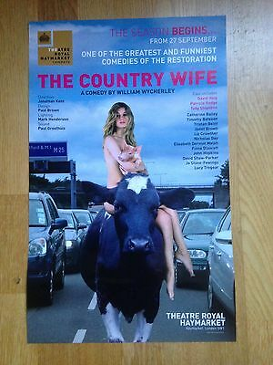 THE COUNTRY WIFE, Toby Stephens, Theatre Royal Haymarket theatre poster