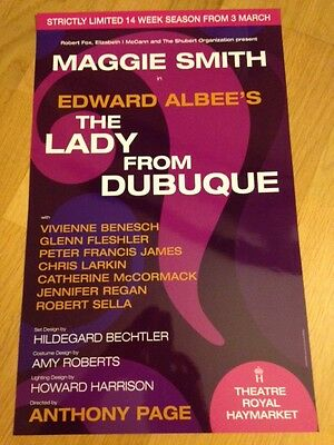 MAGGIE SMITH - THE LADY FROM DUBUQUE theatre poster