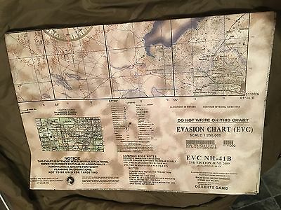 Special Forces SAS ESCAPE & EVASION CHART MAP AFGHANISTAN IRAN NAD ALI VERY RARE
