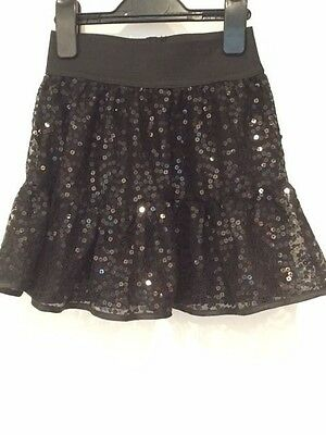 Black sequin Skirt age 6, very sparkly, Next, Christmas party