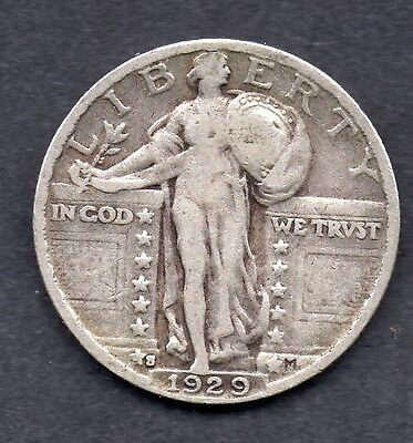 United States Standing Liberty Quarter Coin 1928-S Type 2 / 3 Stars
