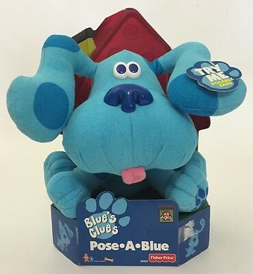 1997 Fisher Price Blue's Clues Pose A Blue Plush Toy In Original Box Puppy Dog