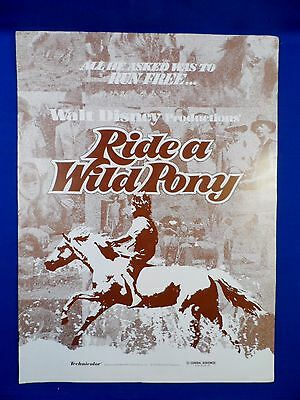 Vintage 1975 Disney Ride a Wild Pony with Ad Pad Press Kit Campaign Book RARE!