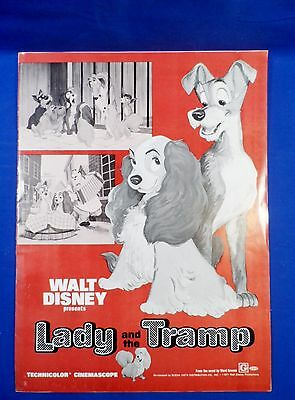 Vintage 1971 Disney Lady and the Tramp with Ad Pad Press Kit Campaign Book RARE!