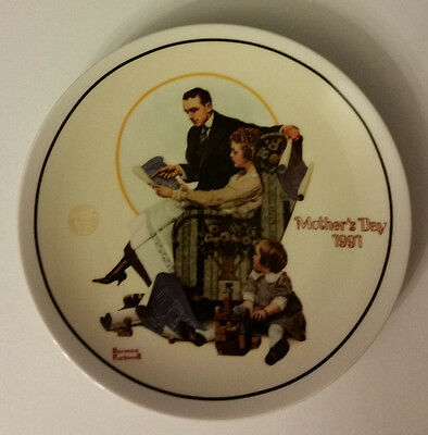 Norman Rockwell Mother's Day 1991 Building Our Future Collector's Plate