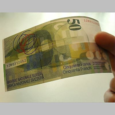 2012 Swiss 50 Francs Banknote Crisp Choice About New 58