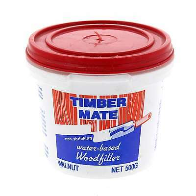 Wood Filler Water Based Non Shrinking Timbermate Walnut 500g