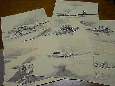 Delta Airlines 50th Anniversary plane sketches