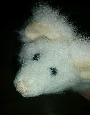 """Boyds Collection 6"""" White Mouse Plush"""