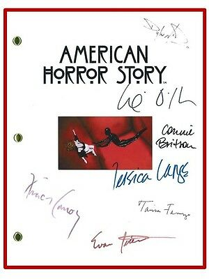 AMERICAN HORROR STORY SCRIPT SIGNED REPRINT CONNIE BRITTON   DYLAN McDERMOTT