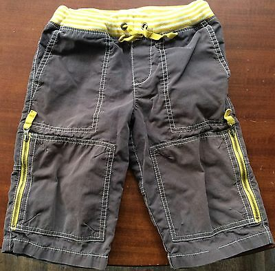 Mini Boden 5y Gray Pull-on Shorts