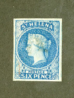 ST. Helena 1856 SC #1 GEM Four Margin example of this World Classic!