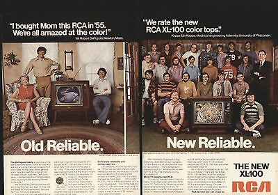 1973 Old Reliable New Reliable From Rca Xl-100 2-Pg Ad