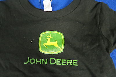 John Deere NEW (18 Months) Baby T-shirt Tractor Construction Ag Tractor blk