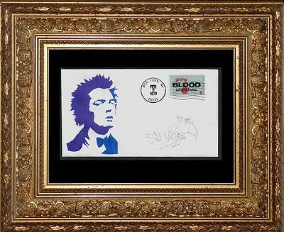 Sid Vicious Sex Pistols Featured on Limited Edition Collector's Envelope *X975