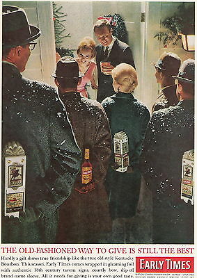 1962 Christmas Party With Early Times Whiskey Gift Ad