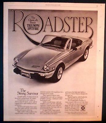 1978 Triumph Spitfire Roadster The Strong Survivor Ad