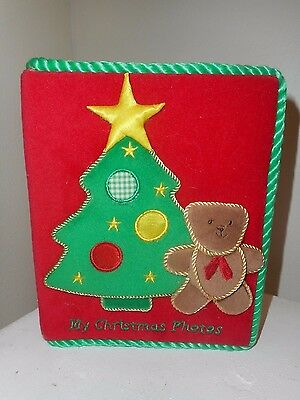 My Christmas Baby Child Photo Album with Christmas Tree and little bear