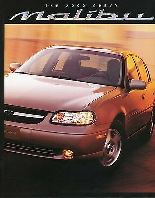 2002 Chevy Chevrolet Malibu Sales Brochure Literature Original