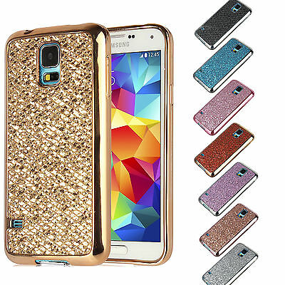 For Samsung Galaxy Phones New Shockproof Bling Silicone Soft TPU Back Case Cover