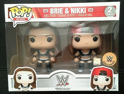 Funko Pop! WWE Exclusive Bella Twins Brie Nikki RARE NEW 2-Pack IN HAND POPULAR