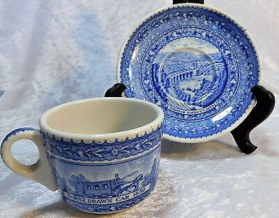 Vtg 1927 B&o Baltimore Ohio Railroad Coffee Cup & Saucer Scammell China